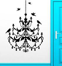Wall Stickers Vinyl Decal Chandelier Birds Light Cool Living Room Vintage ig2308