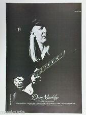 retro magazine advert 1980 DEAN MARKLEY johnny winter