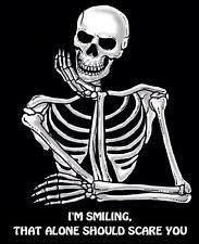 I'M SMILING, THAT ALONE SHOULD SCARE YOU SKELETON SKULL SWEATSHIRT  SJ003