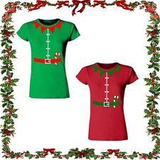 Christmas Elf T-Shirt Top Tee Gift Ladies Fit Fancy Santa Xmas Novelty Unisex