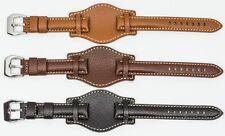 Vera Pelle da Uomo Militare Bracciale Watch Strap Band 18 mm 20mm 22mm e 24mm NUOVO