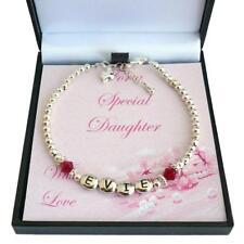 Brazalete Personalizado con piedras de nacimiento,regalo para niña,Cualquier