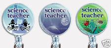 Badge Reel Retractable ID Name Card Lanyard Holder Instructor Science Teacher