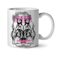 Japanese Girl Brush Anime Twin NEW White Tea Coffee Mug 11 oz | Wellcoda
