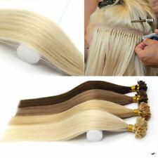 """Pre Bonded Nail U Tip Keratin Natural Human Hair Extensions 14-22"""" 1g/s 50s"""