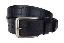 Cinturón De Cuero Negro Ella Jonte Más Amplio Hombre Mujer Unisex