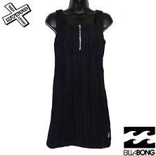 """BILLABONG """"Cord DRESS"""" Donna Minigonna Dress Black Cord velluto a coste UK 8 12 Nuovo con etichetta"""