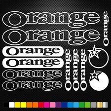 Orange 12 Stickers Autocollants Adhésifs - Vtt Velo Mountain Bike Dh Freeride