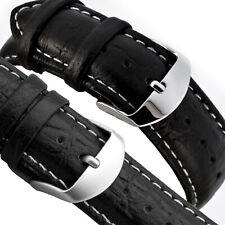 LEDERBAND 22mm Uhrarmband - feinnarbiges Glattleder - Uhr - Dornschließe