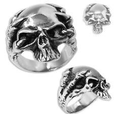 1 anillo de acero inoxidable calavera Skull Biker cráneo góticos esqueleto Death masivamente