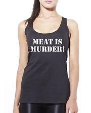 Meat Is Murder Vegetarian Vegan - Animal Rights Womens Vest Tank Top