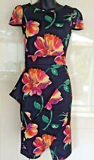 Womens Ladies Scuba Floral   Bodycon Dress