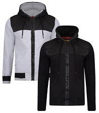 Ringspun Harvington Zip Up Hoodie Men's Fleece Sweatshirt Hooded Top Black Grey