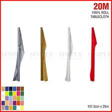 20M Plastic Table Cloth Roll Banquet Party Wedding PVC Vinyl Bulk White Red Pink