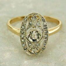 f89a053b800d Anillo de Oro Amarillo 14KT y Diamantes Naturales Estilo Vintage Antiguo  Mujer