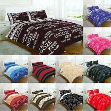 Duvet Cover Design Keep Calm Quilt Set Pillow Case, Single, Double, Super King,