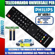TELECOMANDO UNIVERSALE PHILIPS 32. CLICCA IL TUO MODELLO LO RICEVERAI GIA PRONTO