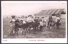 Lincs SKEGNESS Donkeys on beach 1916 RP PPC