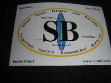""""""" Santa Barbara """" Surf Surfing Surfboard Beach Sticker"""