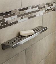 SereneDrains Shower Shelf Stainless Steel - Quadrato 16 inch or 24 inch