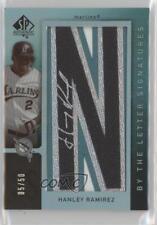 2007 #BL-33.4 Hanley Ramirez (Letter N) Miami Marlins Auto Baseball Card