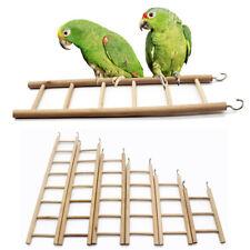 New listing Bird Wooden Ladder Perch Climbing Cockatiel Parakeet Budgie Parrot Cage Pet Toys