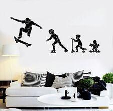 Vinyl Wall Decal Evolution Boy Teen Room Skateboards Skates Sports (ig4781)