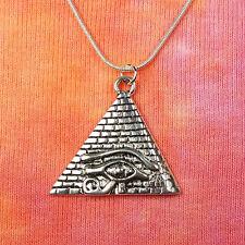 "Eye of Ra Pyramid Necklace 16""-36"" Egypt Egyptian Pendant magic for men or women"