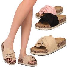 dac6ce66e49 New Women OverSize Bow Open Toe Slide Sandal Shoe Espadrille Platform Wedge  Heel