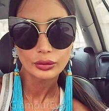 Fashion Alley Cat Eye Extreme Large Metal Tip Big Boho Sunglasses Glasses 6581 L