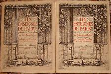 BOUCHER. LES ENSEIGNES DE PARIS. 20 EAUX-FORTES DE JEAN-JULES DUFOUR. 1924-1925.