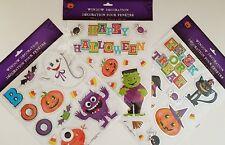 Halloween Window Metallic Stickers Decorations Bats Cats Casper Jack-O-Lanterns…