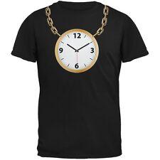 Clock Necklace Black Adult T-Shirt