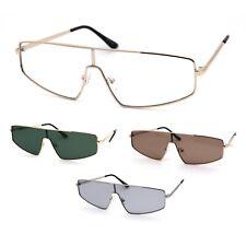 80s Shield Metal Rim Retro Dad Shade Sunglasses