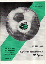 OL 81/82 Chemie Buna Schkopau - BFC Dynamo Berlin