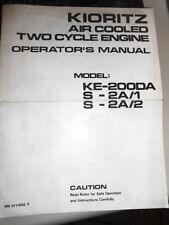 Kioritz Parts Operators Manual Air Cooled 2 Cycle KE200DA S-2A/1 S-2A/2