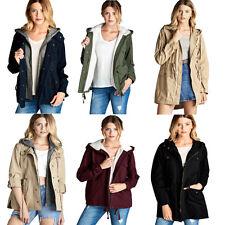 Womens All Season Utility Jacket with Hoodie 3 STYLES Parka Anorak Coat