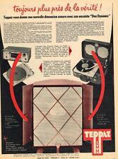 PUBLICITE ADVERTISING   1958   TEPPAZ    tourne disque  DUO DYNAMIC