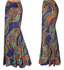Gonna Lunga Donna Maxi Fantasia Multicolore Woman Maxi Colourful Skirt 130060 P