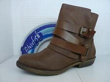 Blowfish Alias Coffee Brown Texas Ladies Slip On Casual Zip Buckle Ankle Boot