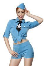 Costume de femme sexy pilote vintage hôtesse de l'air bleu idée Carnaval uy 8010