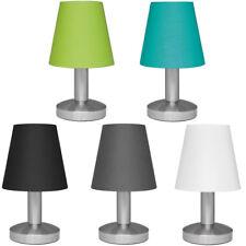 Nachttischlampe Touchschalter Tischleuchte Textilschirm