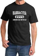 1971 Plymouth Barracuda American Muscle Car Classic Design Tshirt NEW FREE SHIP