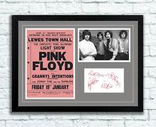 Pink Floyd Concert Poster, Photo & Autographs Memorabilia Poster Lewes 1968