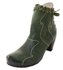 Rovers donna pelle stivaletti verde