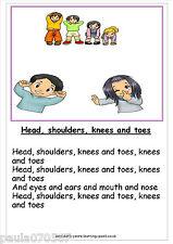 A4 Poster Nursery Rhymes 45 Designs ~ apprendimento e storia di tempo per eyfs-KS3