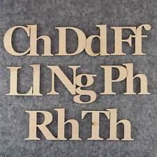 Georgia Font Welsh Letter Set 3 or 6mm Plywood Capital & Lower Case Cymru