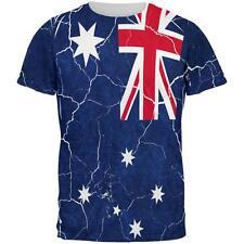 Distressed Australian Flag All Over Mens T Shirt