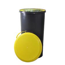 KUEFA 60L Müllsackständer mit flachem Deckel - Gelber Sack Ständer