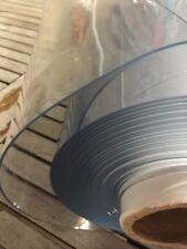 Nappe CRISTAL PVC toile ciree tres epais 2 mm transparent au metre largeur 120cm